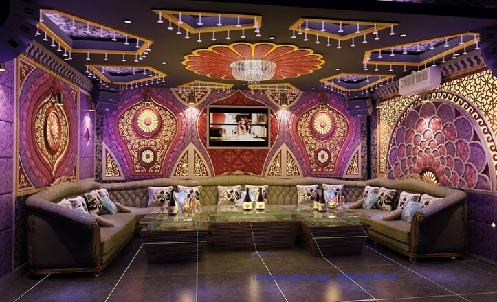 Phong cách thiết kế phòng karaoke hoàng gia - Xu hướng sang trọng, quý phái-2
